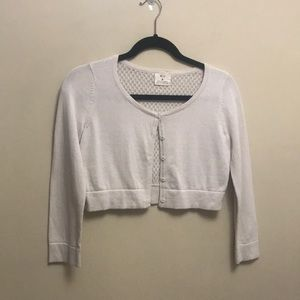 Pins and needles crop cardigan size medium